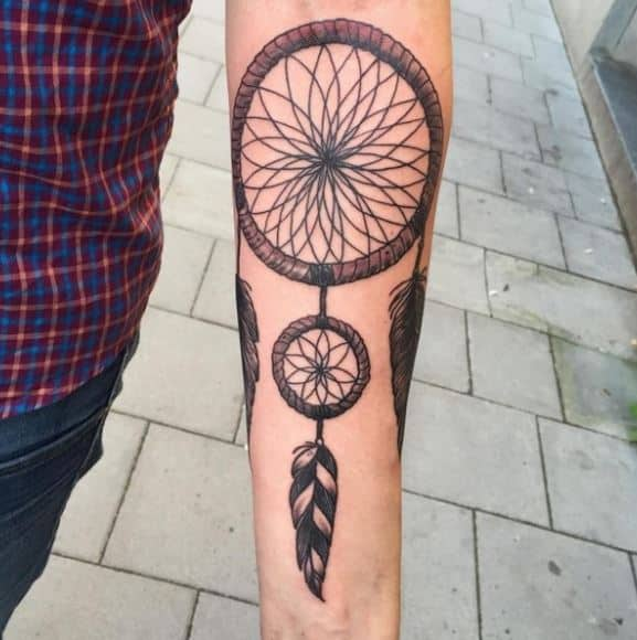 dream catcher-tattoos-big-and-small