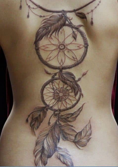 dream catcher-tattoos for women