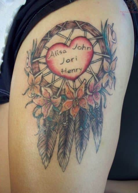 heart-and-dream-catcher-tattoo