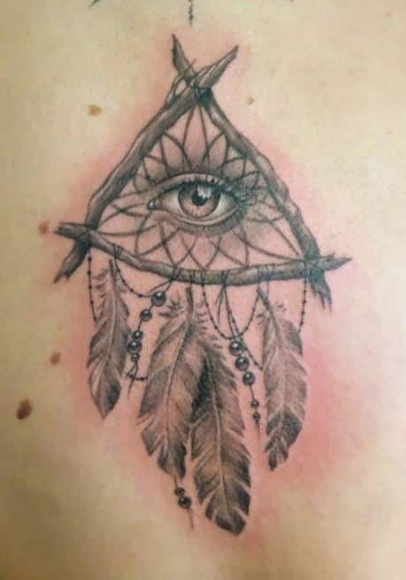 illuminati eye dream catcher tattoos