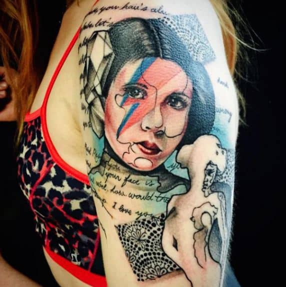 princess leia star wars badass tattoos