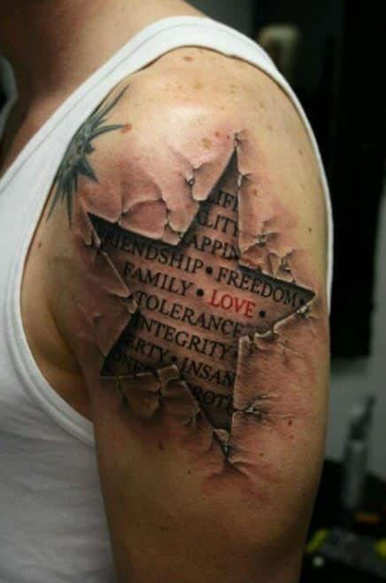 ripped star badass tattoos