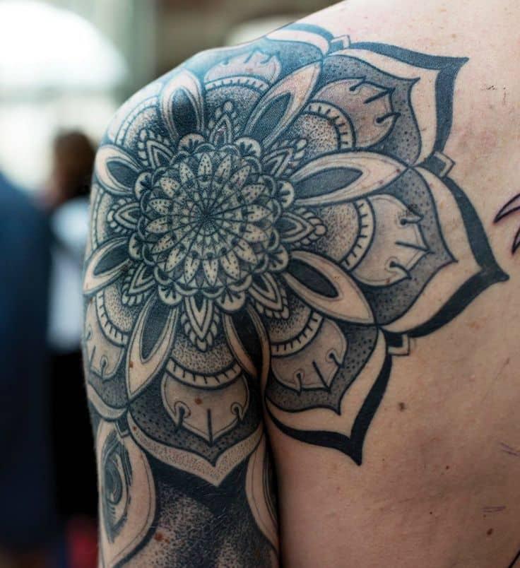 flower mandala tattoo 2017