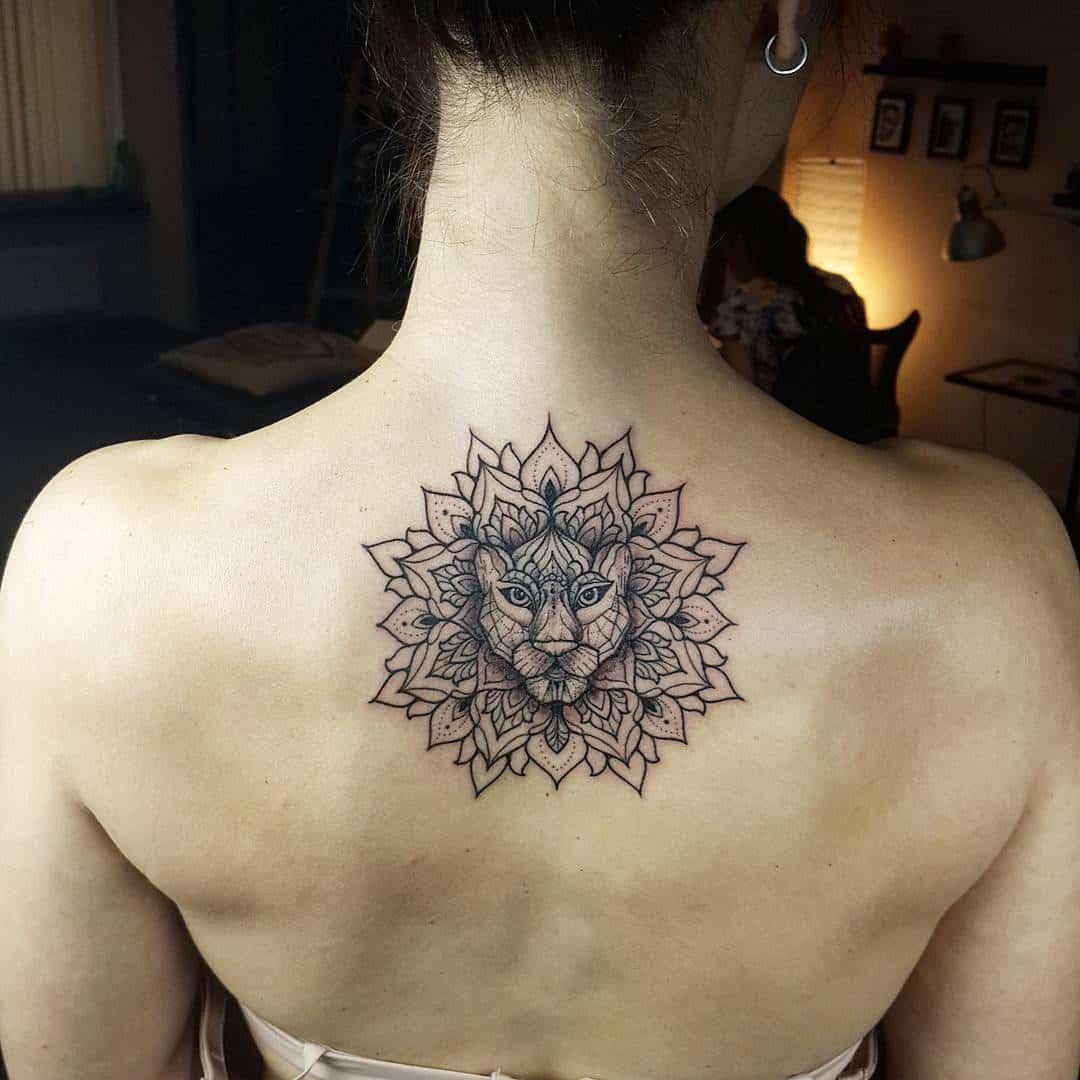 Mandala lion tattoos