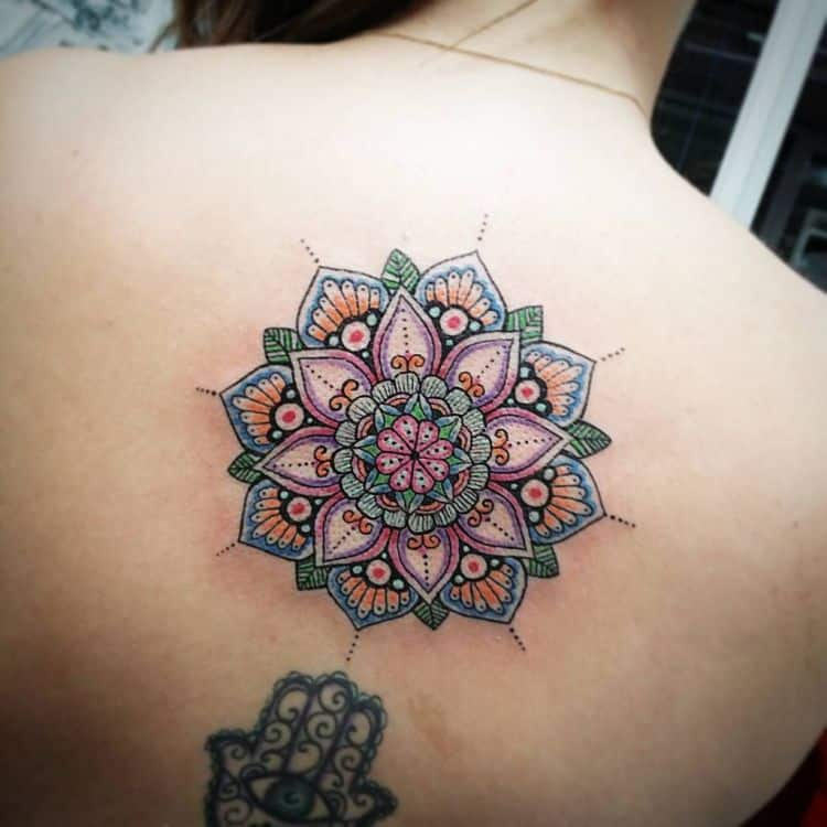 flower mandala design tattoo