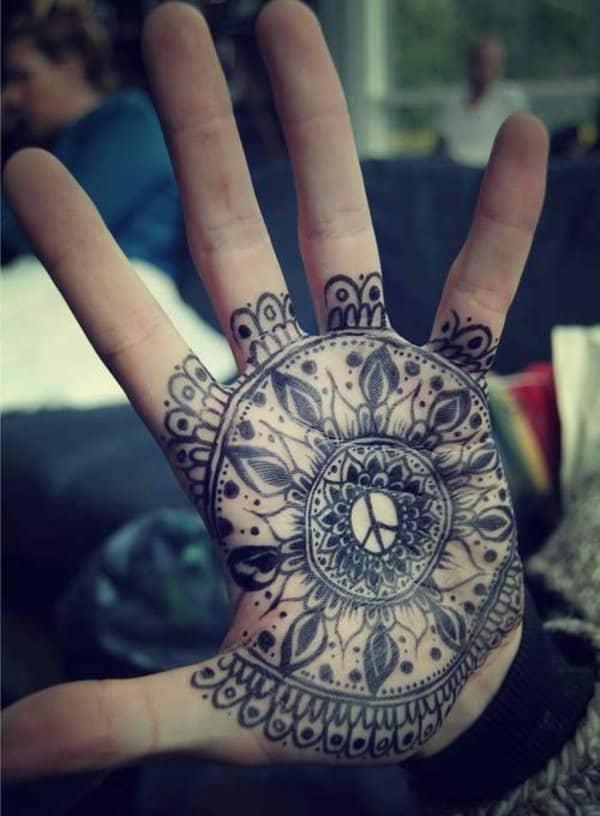 mandalas tattoo lotus mandala hand