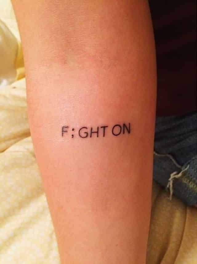 semicolon tattoos fight on