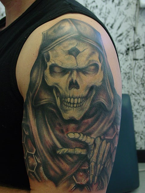 top grim reaper tattoo designs