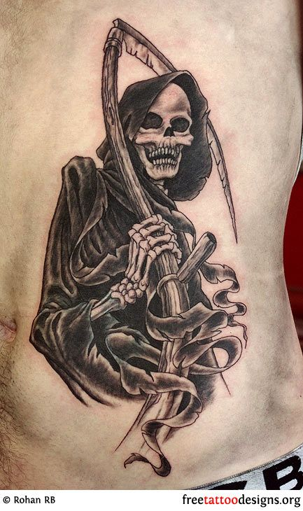 grim reaper tattoos meaning