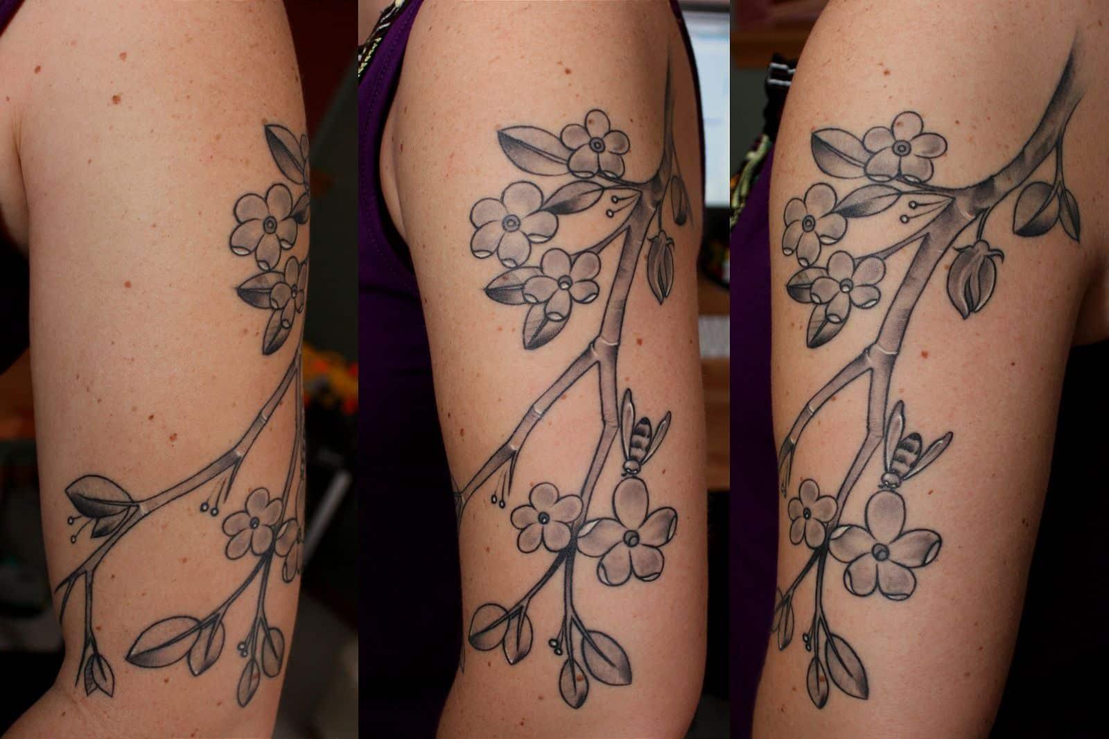 Apple Blossom Arm Tattoo