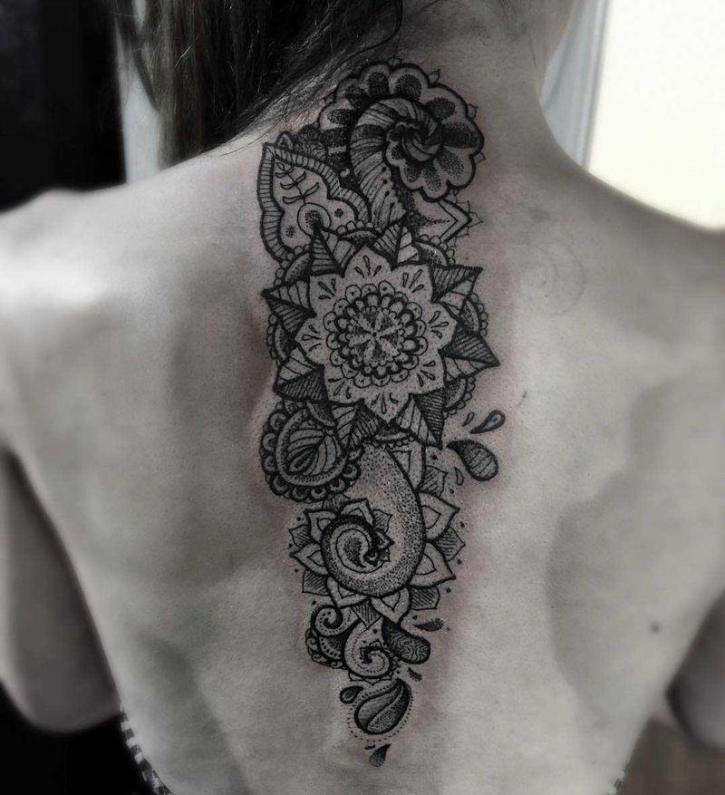 Badass spine tattoo in Tattoos Design Ideas