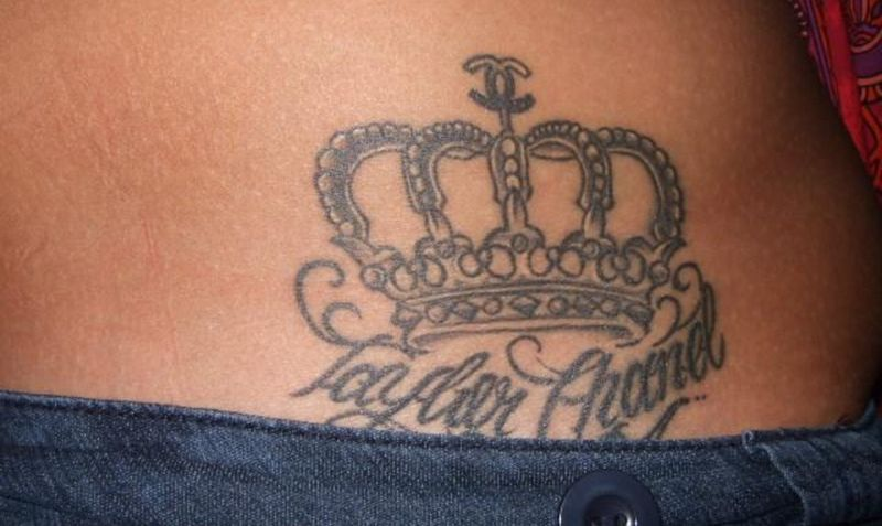Crown Tattoo On Waist For Girls