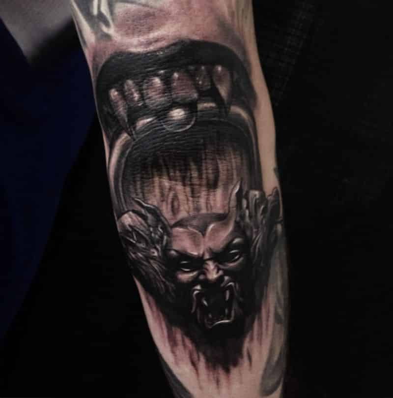 Dangerous Elbow Tattoo