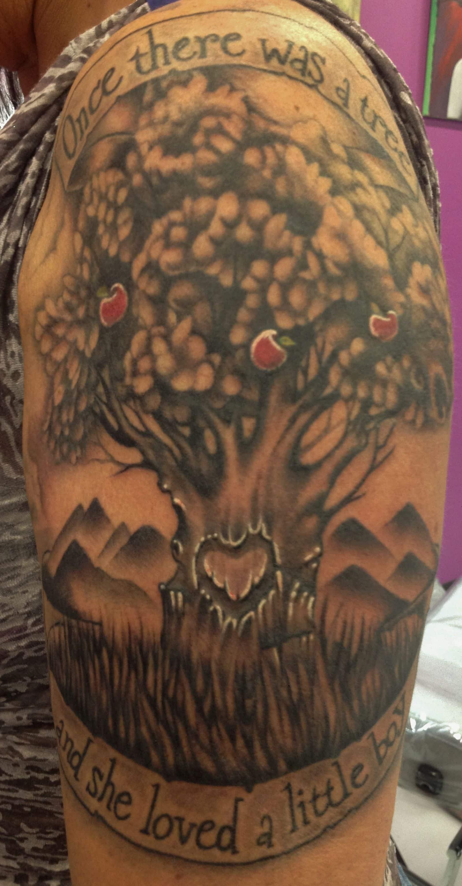 Cheating Heart Tree Tattoo
