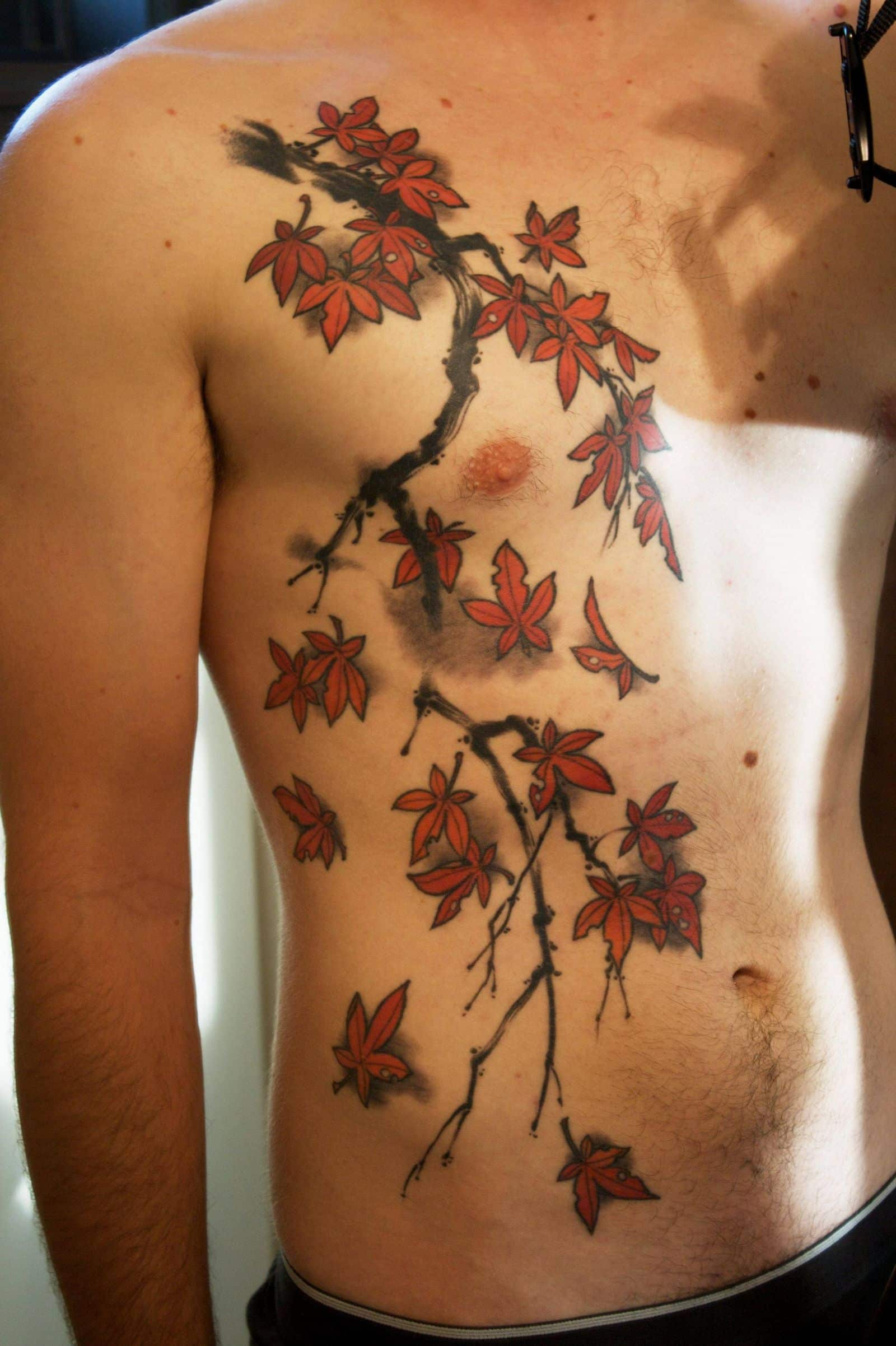 Japanese Maple Tree Branch Tattoo