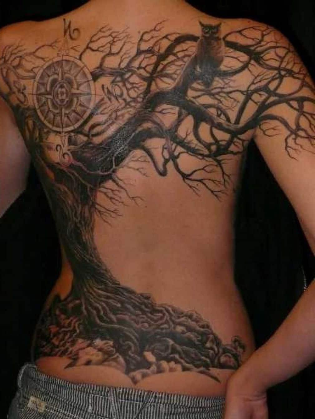 Amazing Willow Tree Tattoo Design