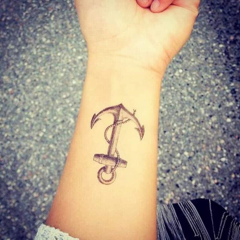 Beautiful Achor Wrist Tattoo