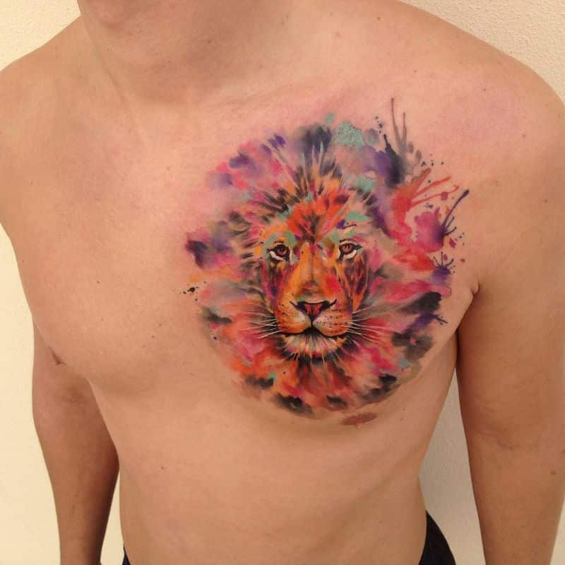 Colorful Art Watercolor Tattoo