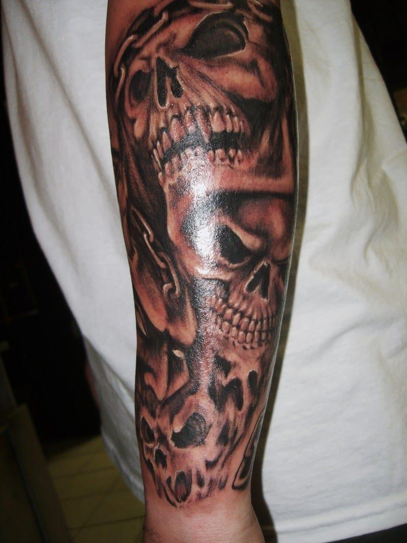 Danger Tribal Sleeve Tattoos