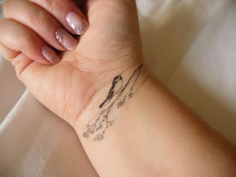 Dead Tree Wrist Tattoos