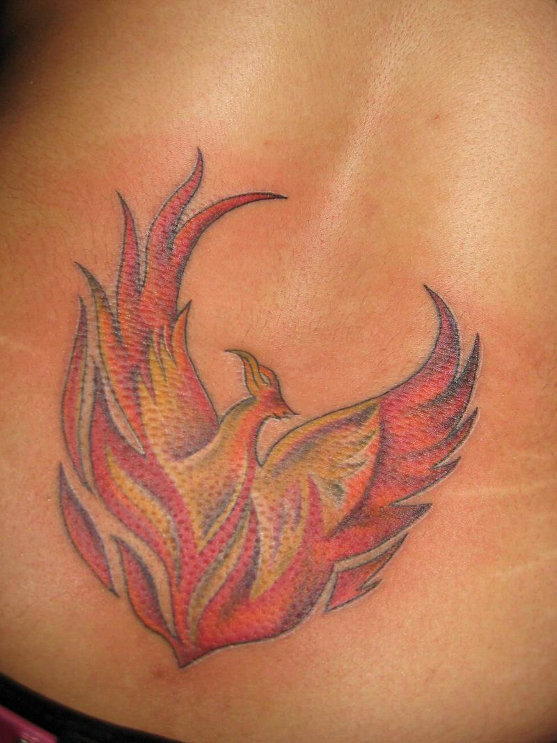 Flame Phoenix Tattoo
