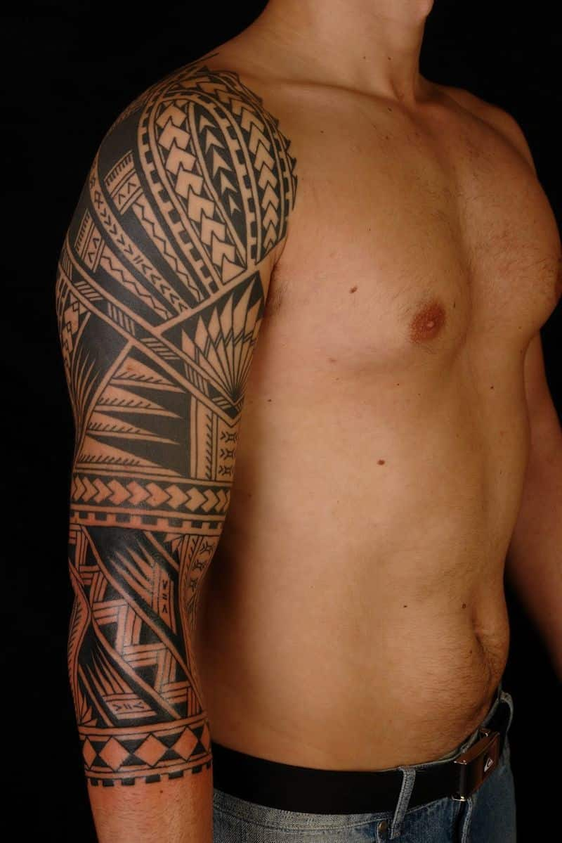 Full Tribal Sleeve Tattoos