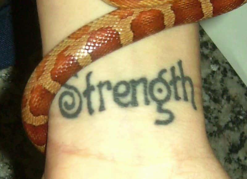 Inner Wrist Strength Tattoo