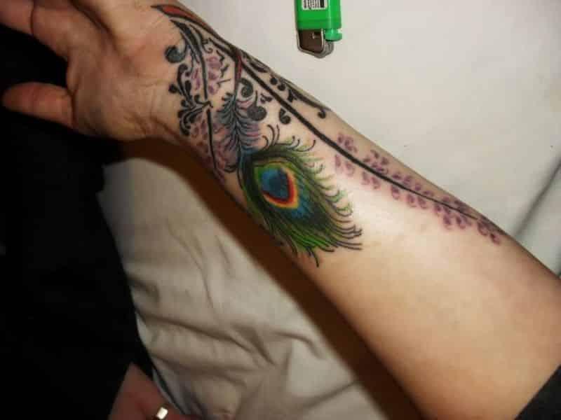 Peacock Feather Tattoos Design