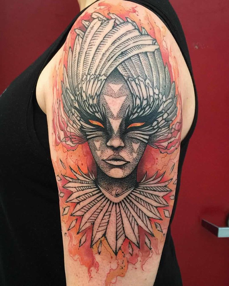 Phoenix Girl On Arm
