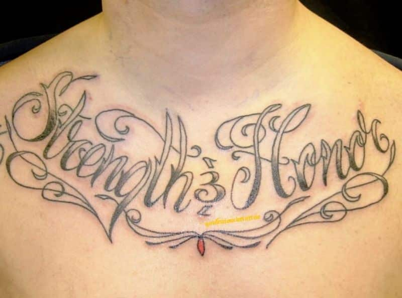 Strength And Honor Tattoo