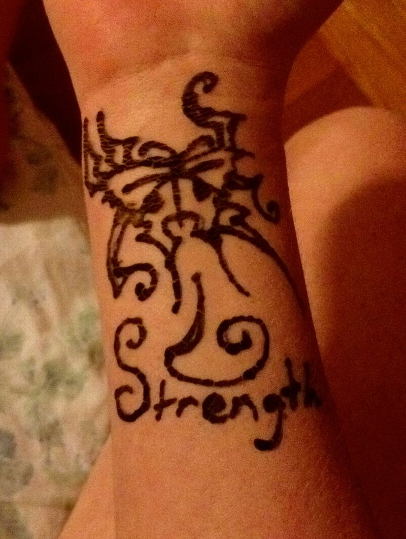 Strength Butterfly Tattoo