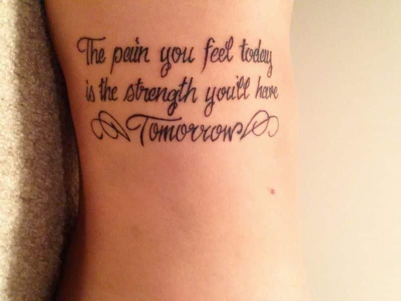 Strength Tattoos On Body