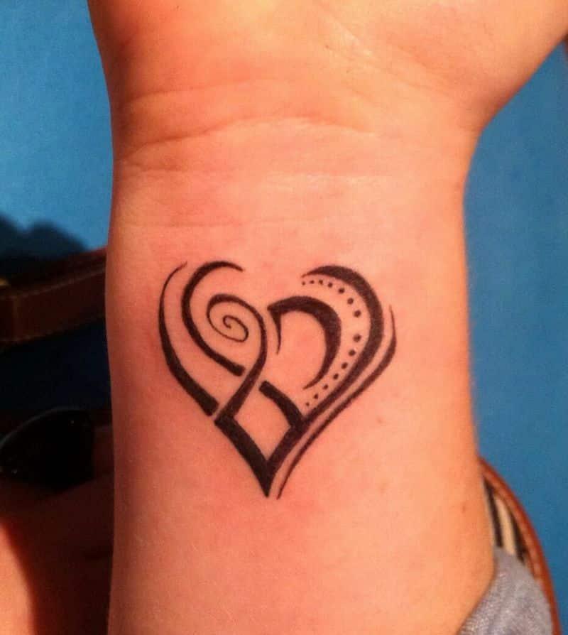 Tribal Love Tattoo Designs Wrist