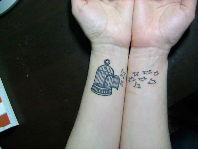 Twins Wrist Tattoos Images