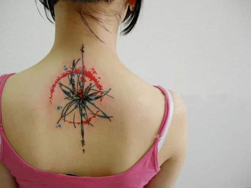 Modern Watercolor Tattoo