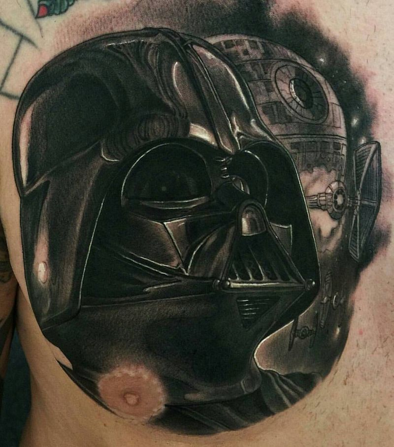 Awesome Darth Vader Tattoo