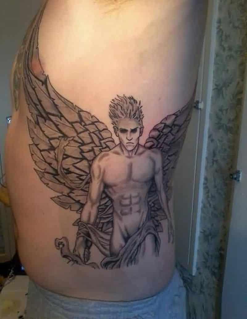 Cool Angel Coy Tattoo