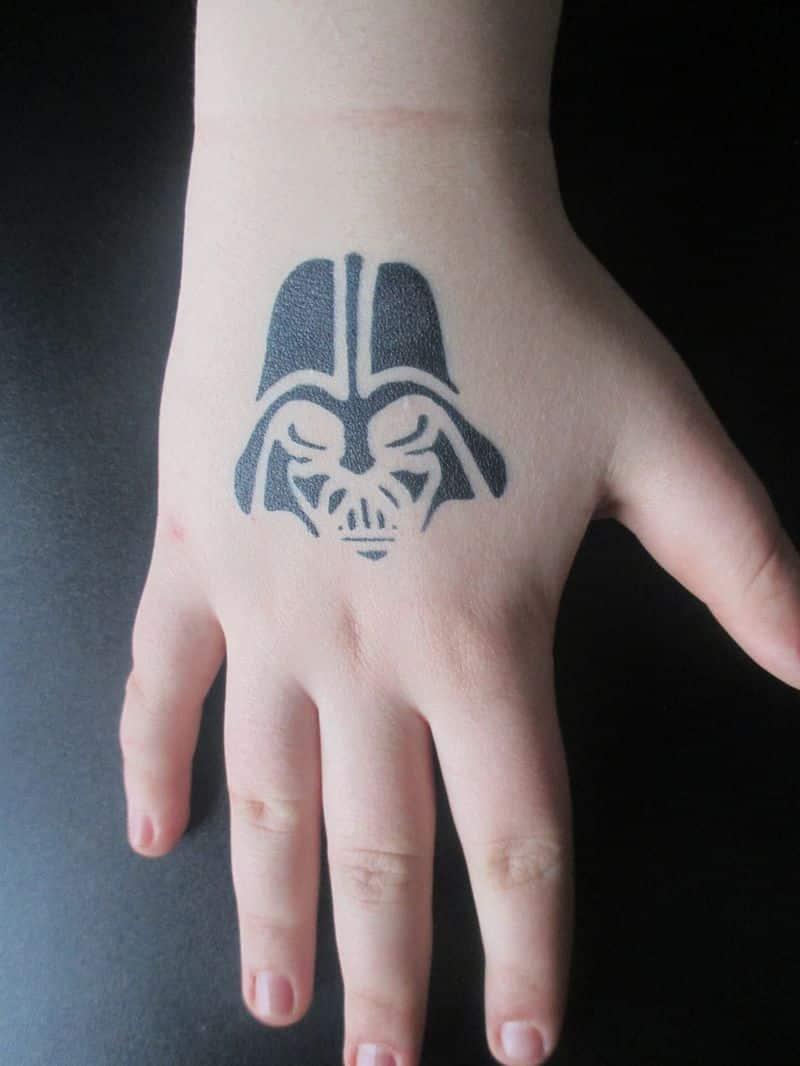 Darth Vader Airbrush Tattoo