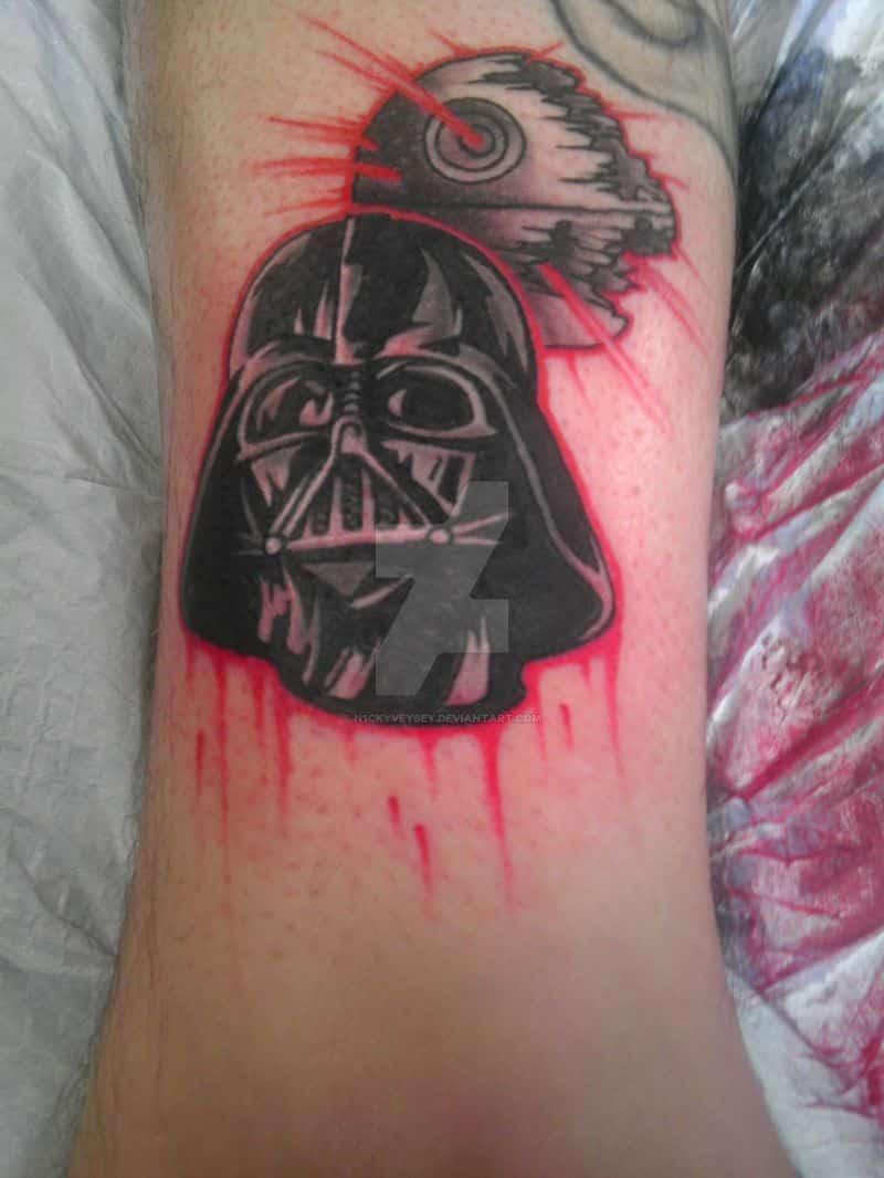 Darth Vader And Death Star Tattoo