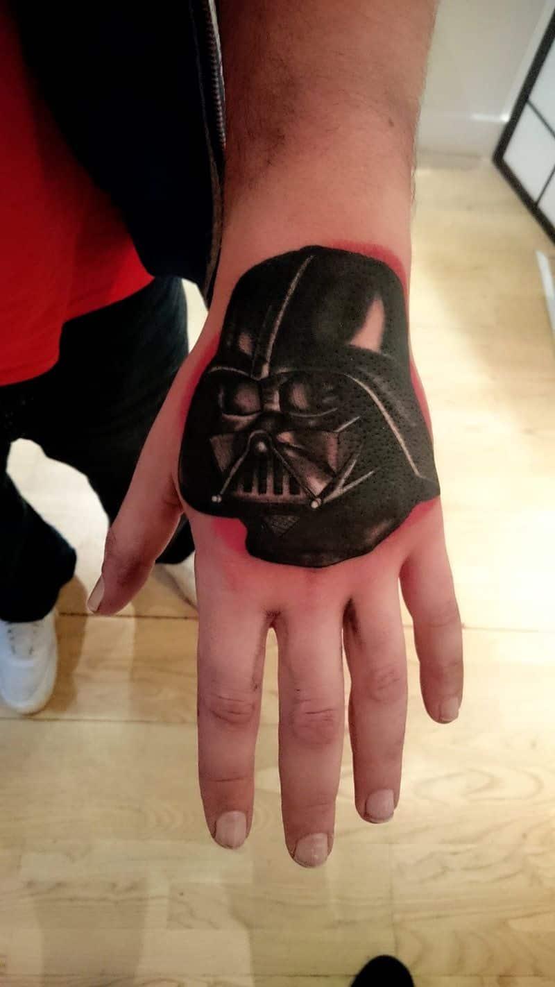 Darth Vader Hand Tattoo