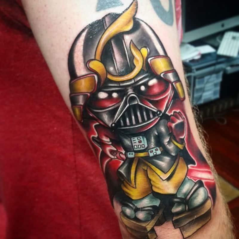 Darth Vader Tattoo On Full Arm