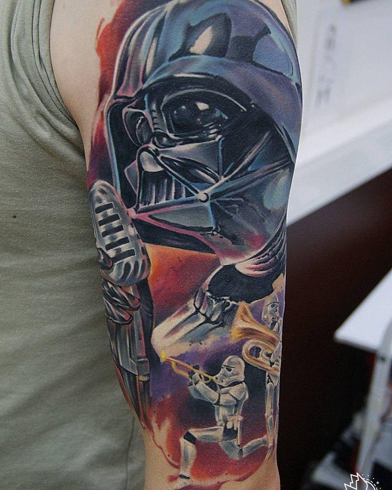 Darth Vader Tattoos On Arm