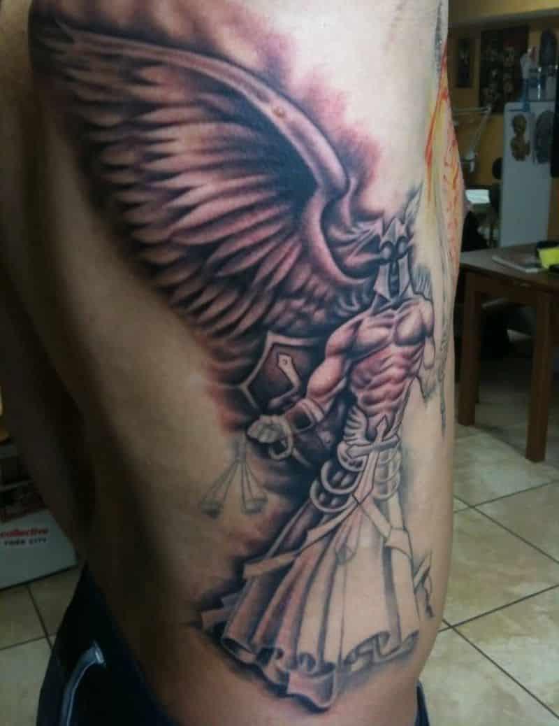 Fabulous Angel Warrior Tattoo