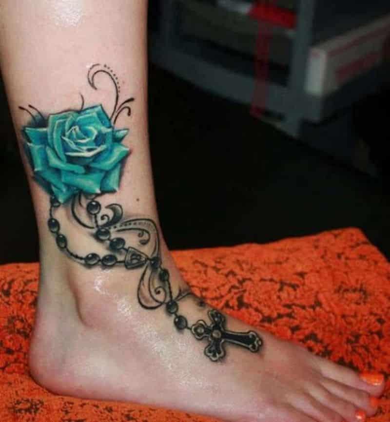 Flower Ankle Regarding Tattoo Art