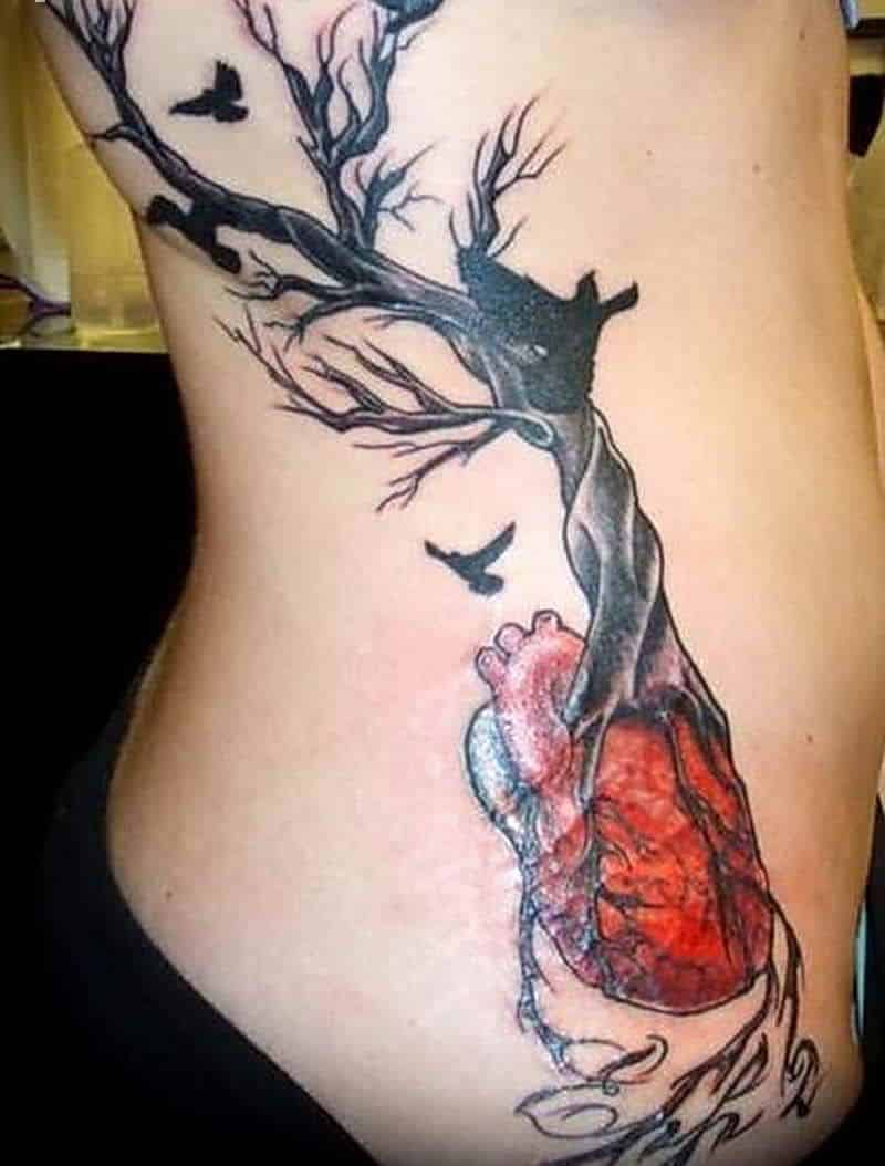 Free Tree Tattoo On Rib Cge
