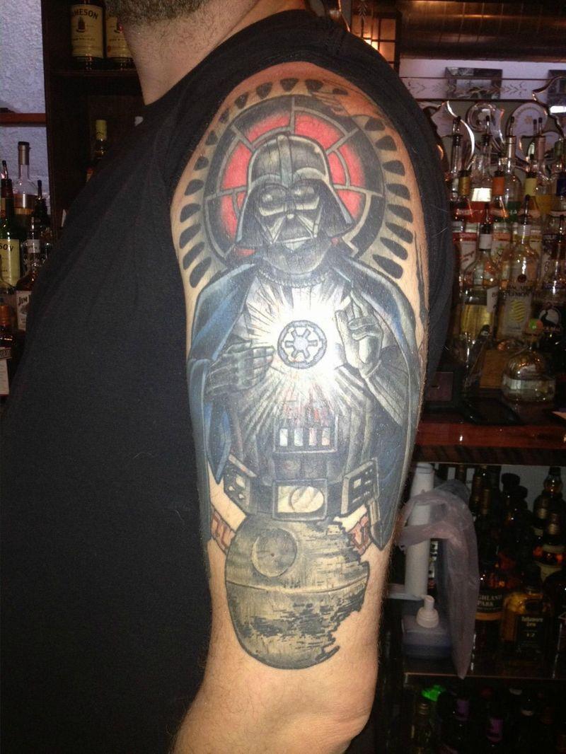 New Darth Vader tattoo On Arm