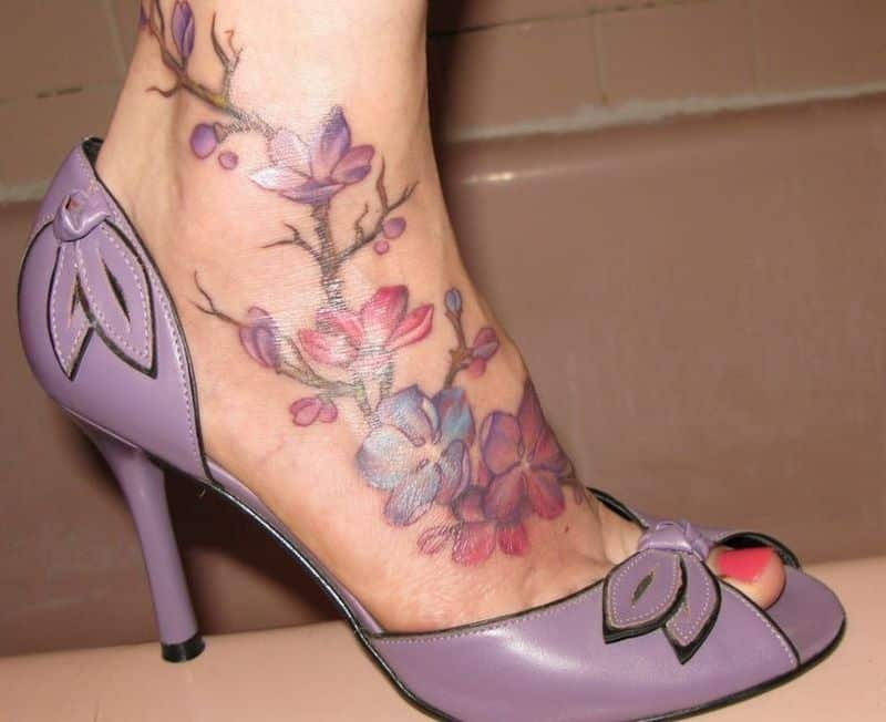 Pink Ankle Tattoos