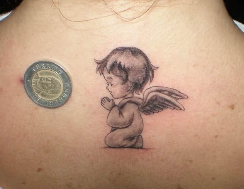 Small Angel Tattoo 50 Small Angel Tattoos And Designs - Tattoo Design Ideas