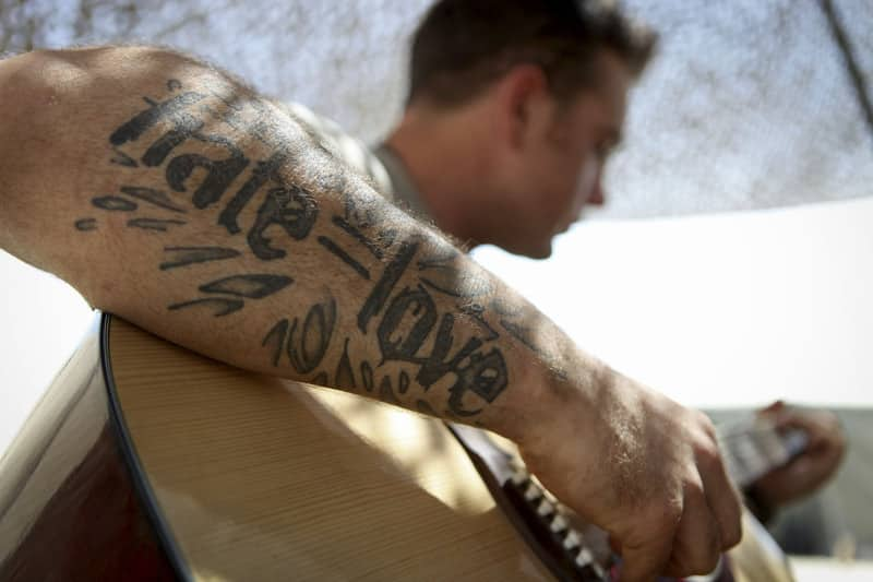 Love Tattoo On Arm For Guys