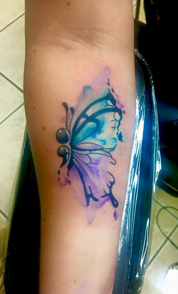 Semicolon butterfly tattoo nice